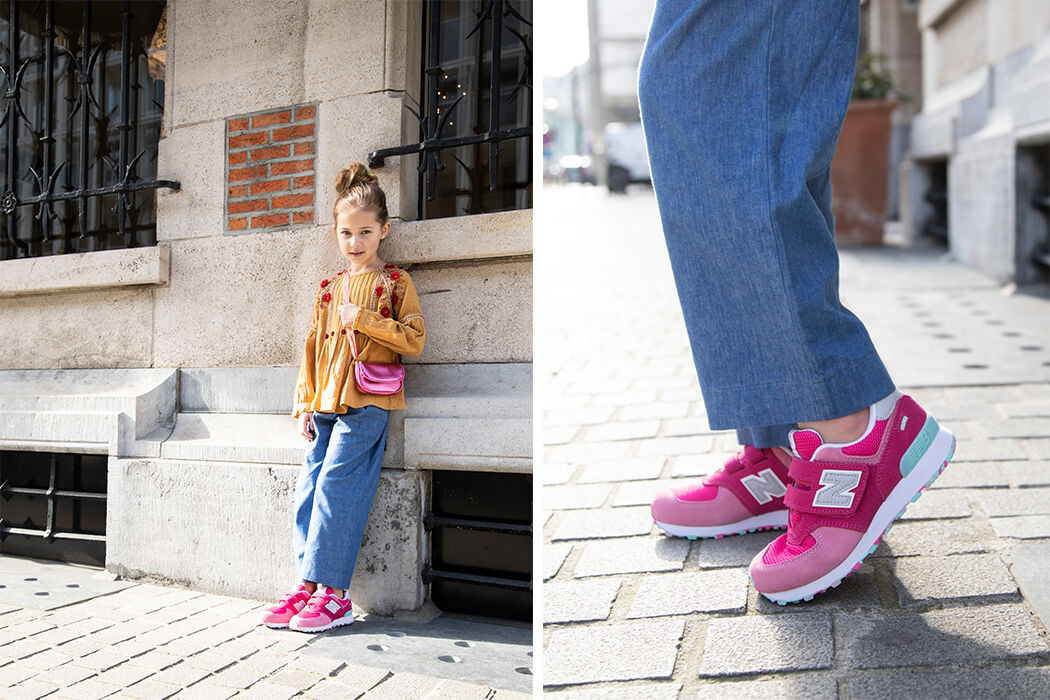 Roze New Balans-sneakers