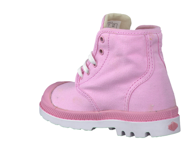 Pink PALLADIUM Ankle boots PAMPA HI LACE K - large