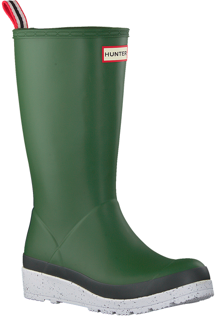 Green HUNTER Rain boots WOMENS PLAY TALL SPECKLE SOLE  - large