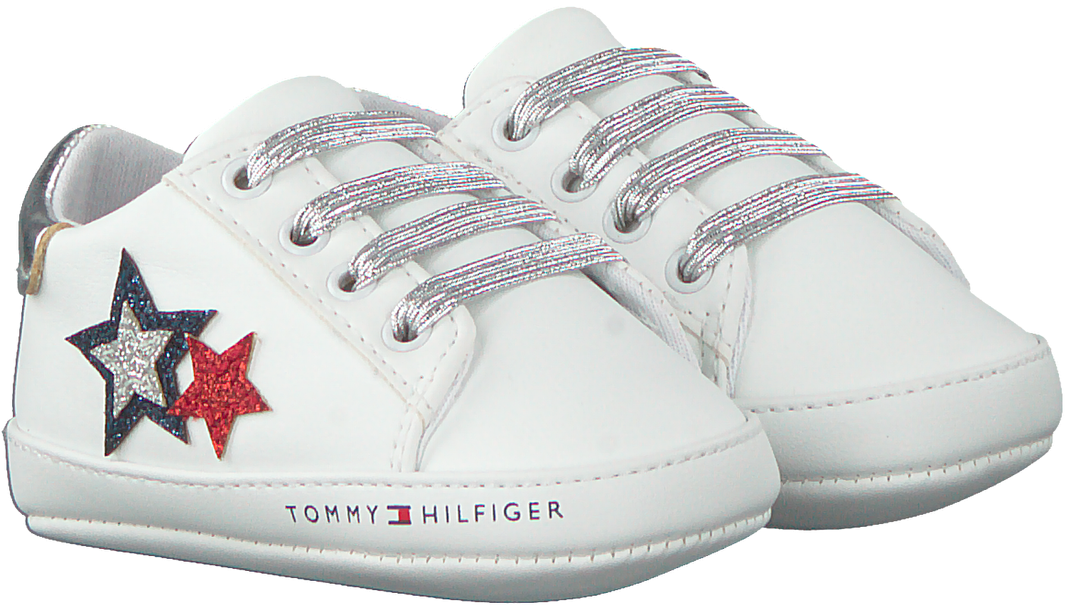 White TOMMY HILFIGER Baby shoes LACE-UP