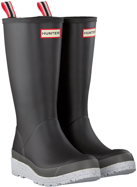 Blue HUNTER Rain boots WOMENS PLAY TALL SPECKLE SOLE  - large