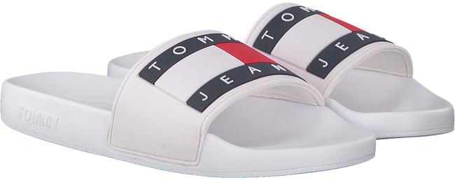 White TOMMY HILFIGER Flip flops FLAG POOL  - large