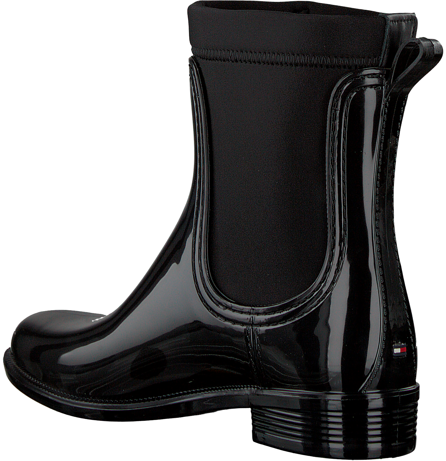 39c3921a3293 Black TOMMY HILFIGER Booties MATERIAL MIX RAIN BOOT - Omoda.com