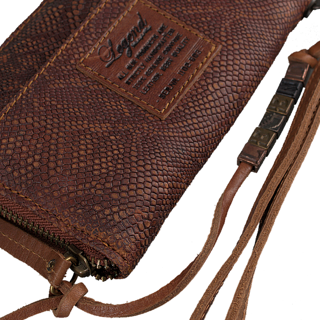 Brown LEGEND Wallet JERSEY SMALL PYTHON - large