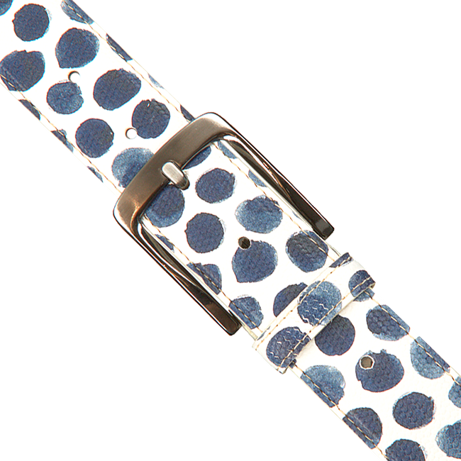 White REHAB Belt BELT SPOTS LIZ - large