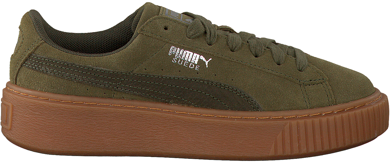 Green PUMA Sneakers SUEDE PLATFORM ANIMAL - Omoda.com