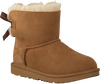 Cognac UGG Classic ankle boots MINI BAILEY BOW II KIDS - small