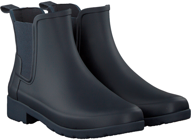 Blue HUNTER Rain boots ORIGINAL REFINED CHELSEA - large