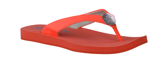 Orange DKNY Flip flops TOKEN - large