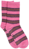 Purple BECKSONDERGAARD Socks DALEA BIG STRIPE SOCK  - small
