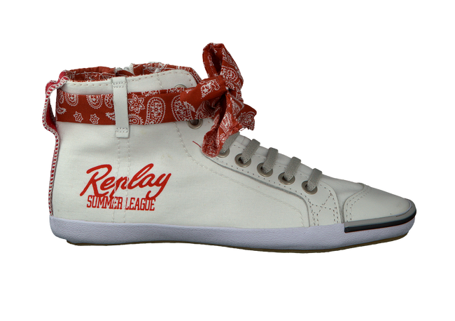 White REPLAY Lace-up boots ARROW - large