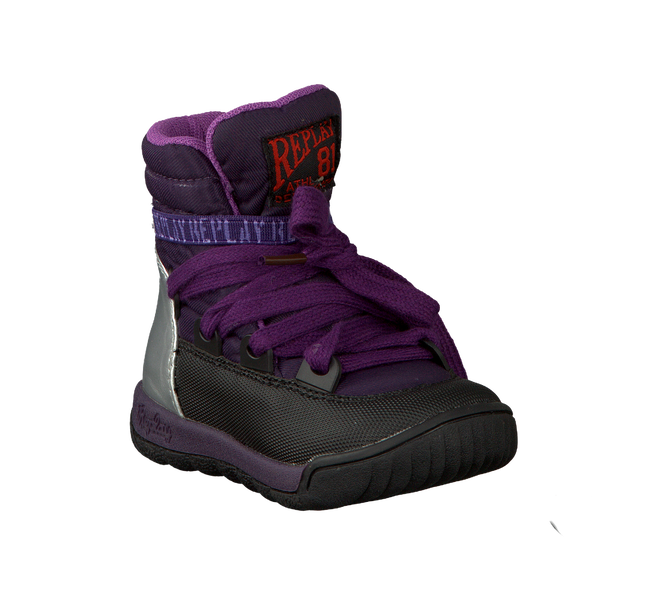 Purple REPLAY Fur boots SOR - large
