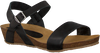 Black RED RAG Sandals 79198  - small