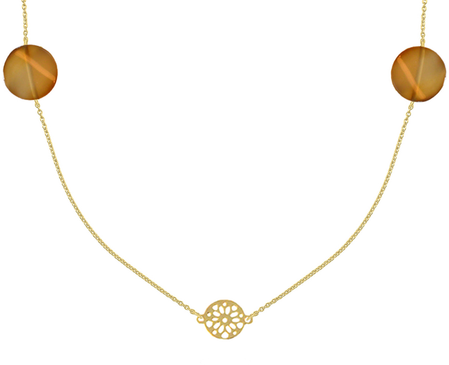 Gold JEWELLERY BY SOPHIE Necklace NECKLACE DESERT - large