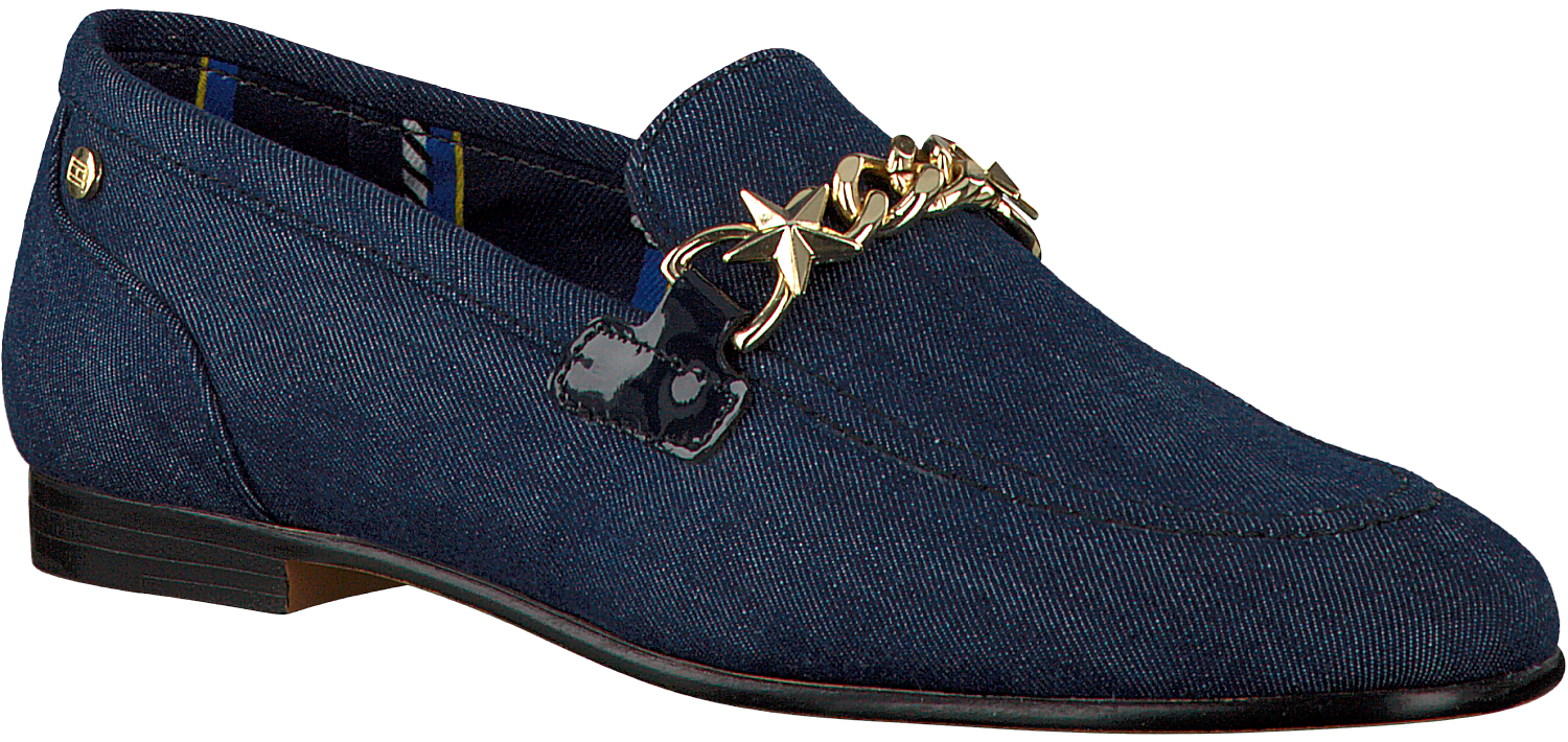 fb9814f6985d13 Blue TOMMY HILFIGER Loafers FEMININE DENIM LOAFER CHAIN. TOMMY HILFIGER.  -50%. Previous