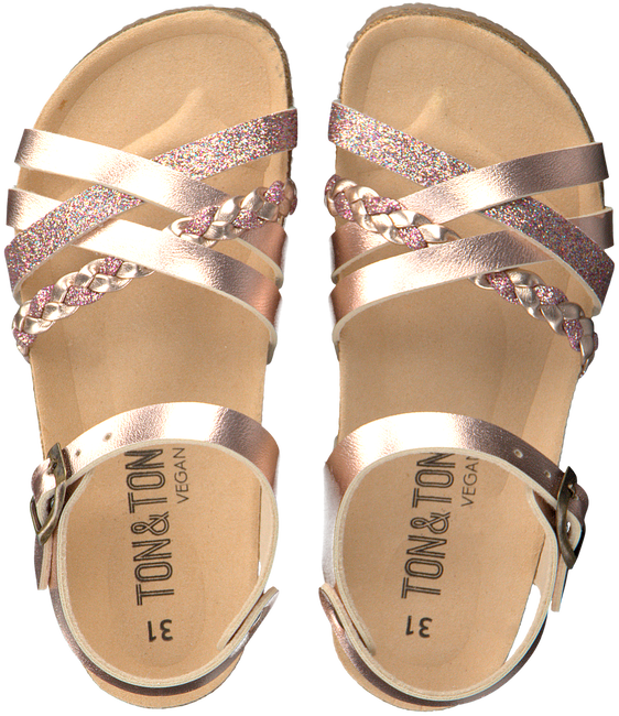 Rosé gold TON & TON Sandals OM10861 VEGAN  - large