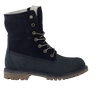 Blue TIMBERLAND Ankle boots AUTHENTICS TEDDY FLEECE - small