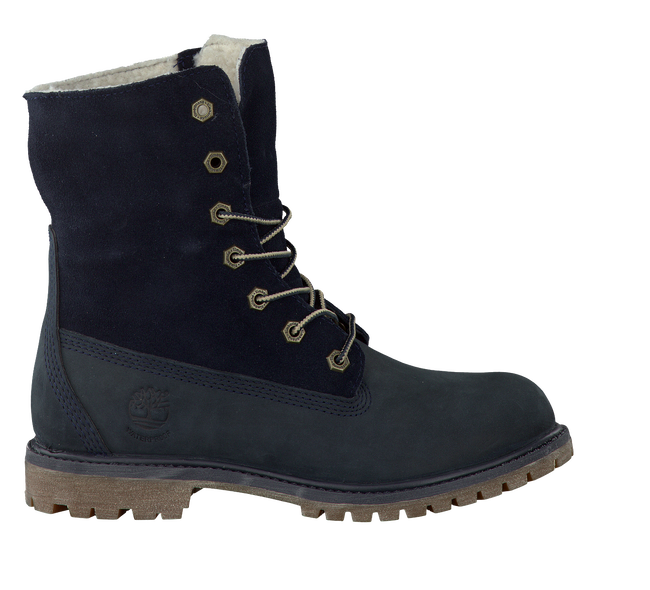 Blue TIMBERLAND Ankle boots AUTHENTICS TEDDY FLEECE - large