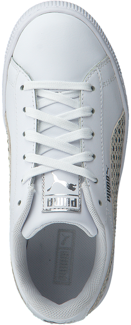 White PUMA Sneakers BASKET CHAMELEON  - large