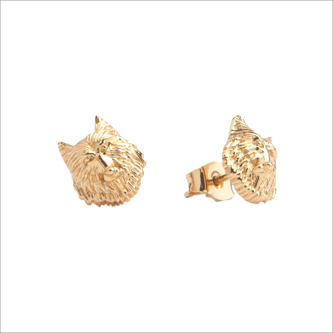 Gold ALLTHELUCKINTHEWORLD Earrings PARADE EARRINGS WOLF - large