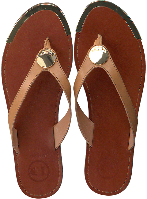 Cognac DUNE LONDON Flip flops LAGOS - large