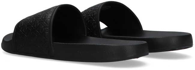 Black CALVIN KLEIN Slides SLIDE EMBOSSED PES-PU-CO CK ME  - large