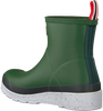 Green HUNTER Rain boots WOMENS PLAY SHORT SPECKLE SOLE  - small