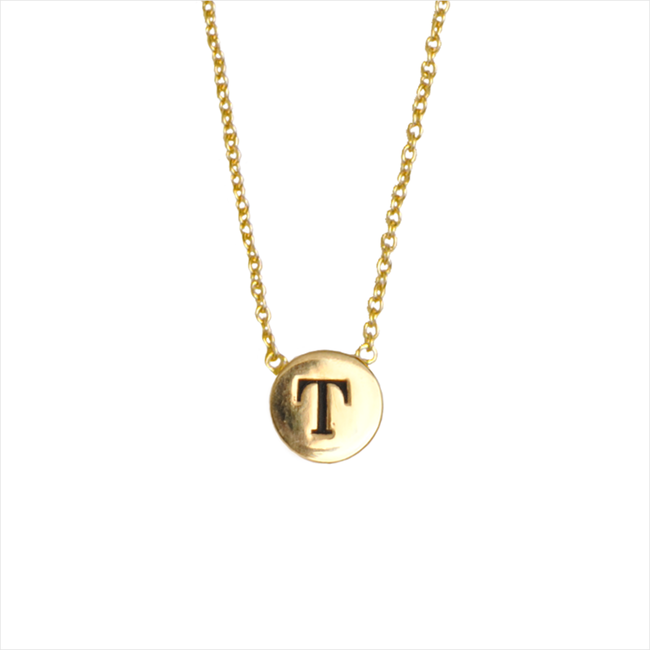 Gold ALLTHELUCKINTHEWORLD Necklace CHARACTER NECKLACE LETTER GOLD - large