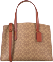 Beige COACH Handbag CHARLIE CARRYALL  - medium