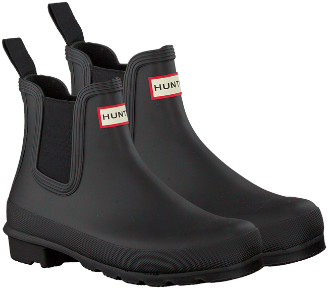 Black HUNTER Rain boots ORIGINAL CHELSEA - large