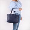 Blue CALVIN KLEIN Shopper EDGE MEDIUM SHOPPER - small