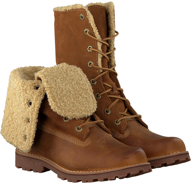 Cognac TIMBERLAND Ankle boots 6IN WP SHEARLING BOOT - large