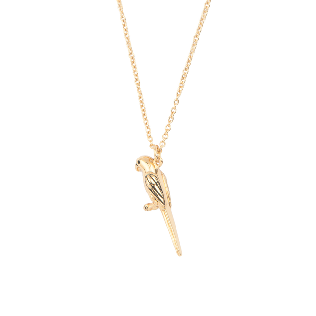 Gold ALLTHELUCKINTHEWORLD Necklace SOUVENIR NECKLACE PARROT - large