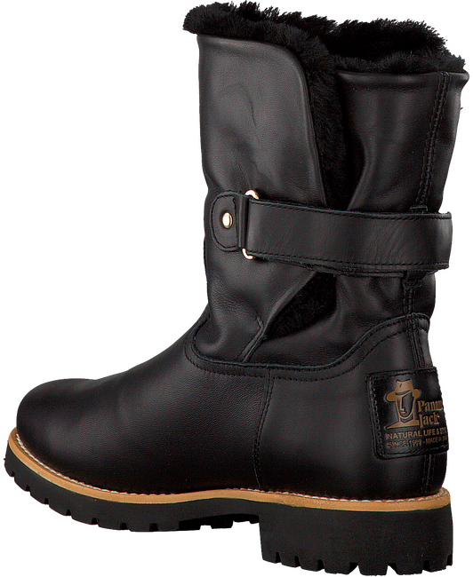 Black PANAMA JACK Fur boots FELIA IGLOO TRAVELLING - large