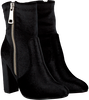 Black NIKKIE Booties VELVET ANKLE BOOTS - small