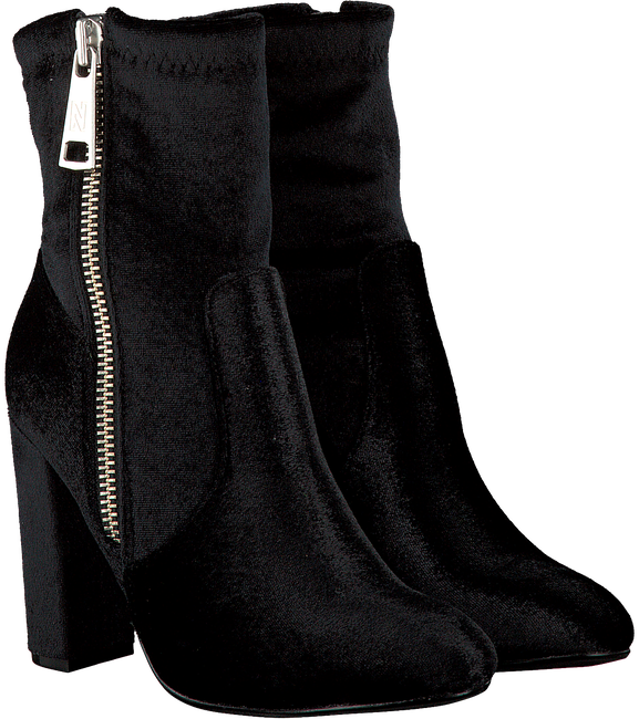 Black NIKKIE Booties VELVET ANKLE BOOTS - large