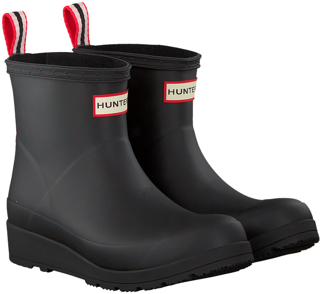 Black HUNTER Rain boots PLAY BOOT SHORT - large