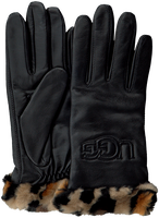 Black UGG Gloves CUFF LOGO TECH  - medium