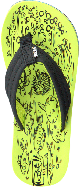Green REEF Flip flops GROM REEF FOOTPRINTS - large