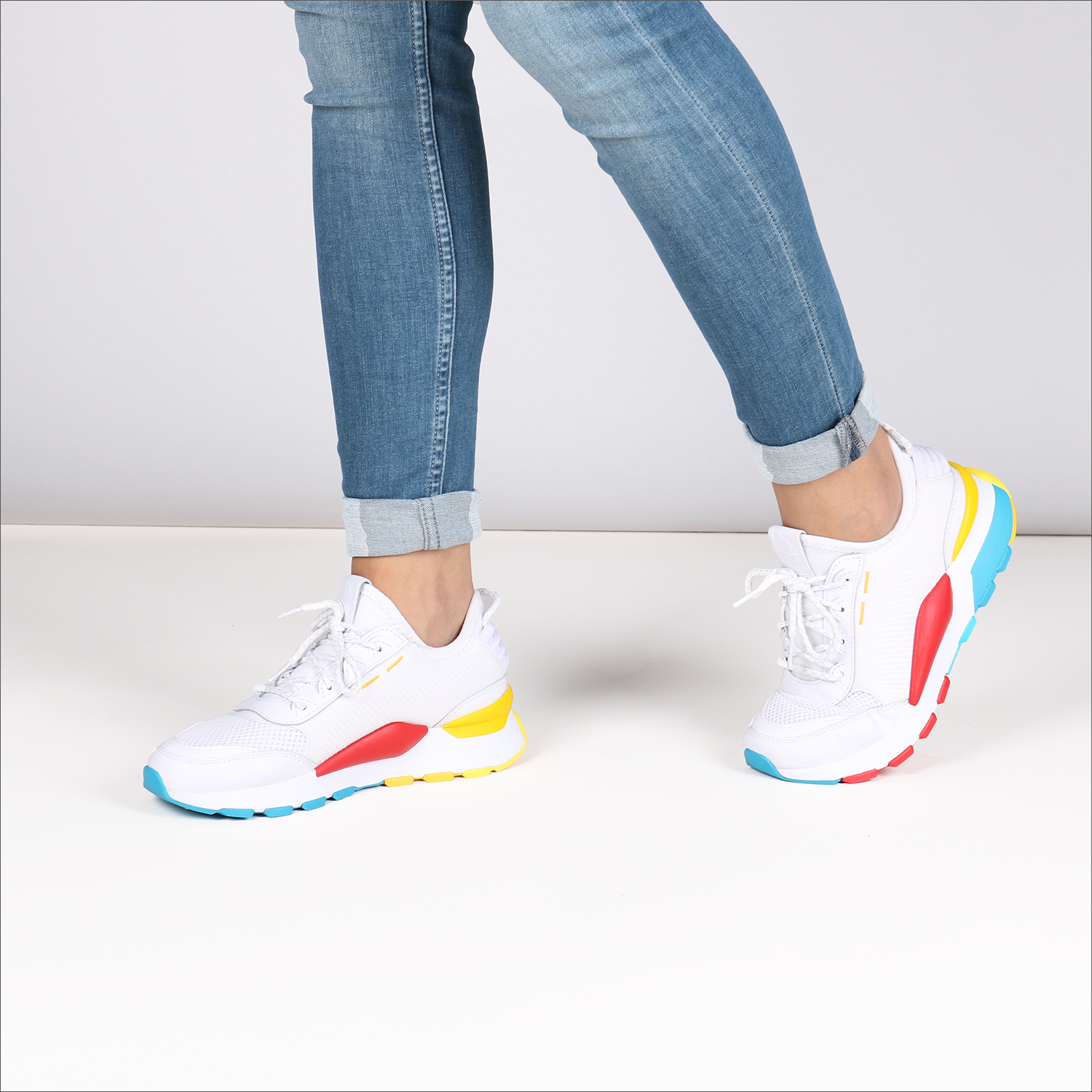White PUMA Sneakers RS-0 PLAY DAMES - Omoda.com