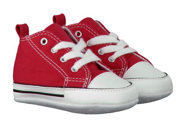 Red CONVERSE Baby shoes FIRST STAR - large