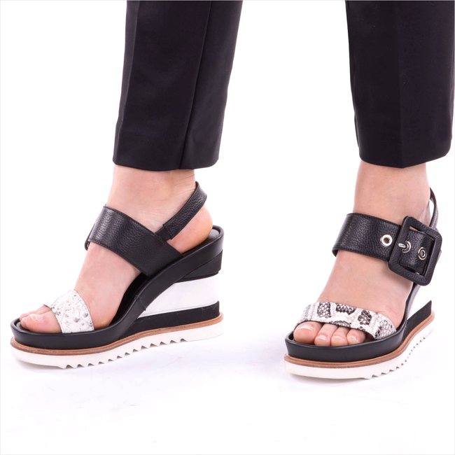 Black LAURA BELLARIVA Sandals 3381  - large