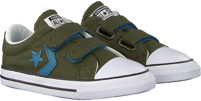 Green CONVERSE Sneakers STAR PLAYER 2V OX KIDS - large