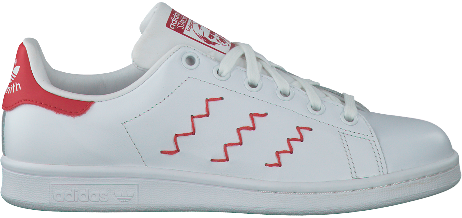 pretty nice c04cb dd883 White ADIDAS Sneakers STAN SMITH ZIG ZAG