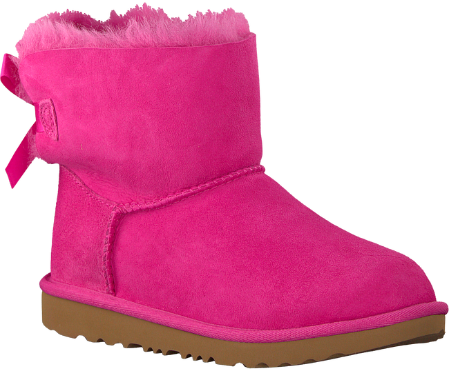 Pink UGG Classic ankle boots MINI BAILEY BOW II KIDS - large