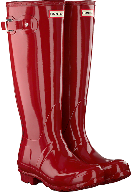 Red HUNTER Rain boots WOMENS ORIGINAL TALL - large