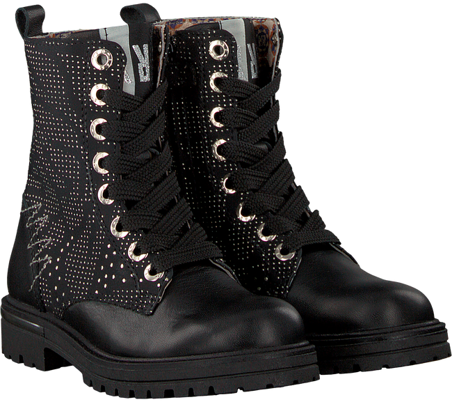 Black RED RAG Lace-up boots 15672 - large