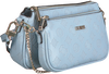 Blue GUESS Shoulder bag DAYANE DOUBLE POUCH CROSSBODY  - small