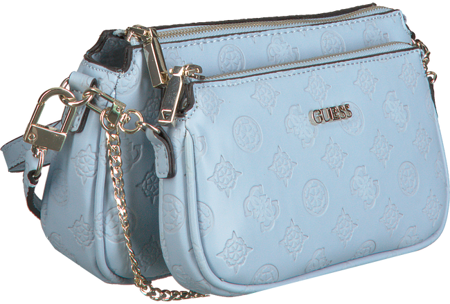 Blue GUESS Shoulder bag DAYANE DOUBLE POUCH CROSSBODY  - large