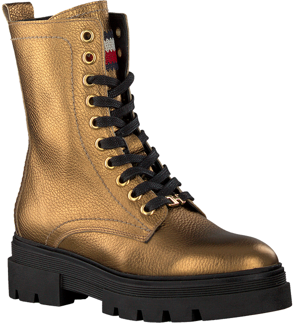 Gold TOMMY HILFIGER Lace-up boots RUGGED CLASSIC BOOTIE  - large